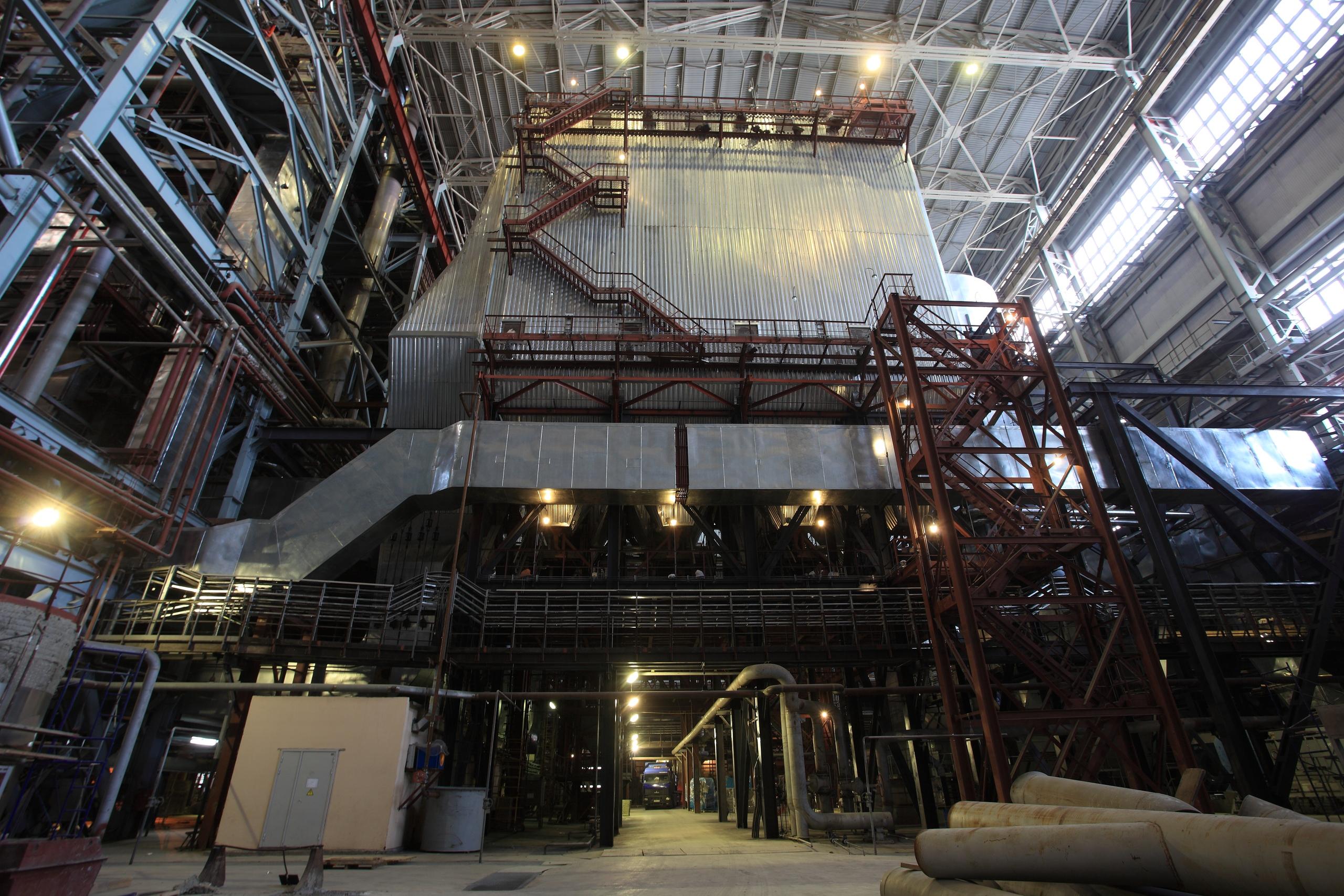 Высота электрофильтра на Красноярской ТЭЦ-3 — 56 метров