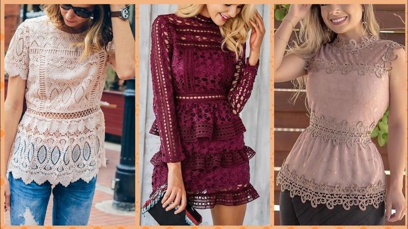 2019 women girls fashion lace flared paplum slinky elegant top hottie designs pastel outfit ideas