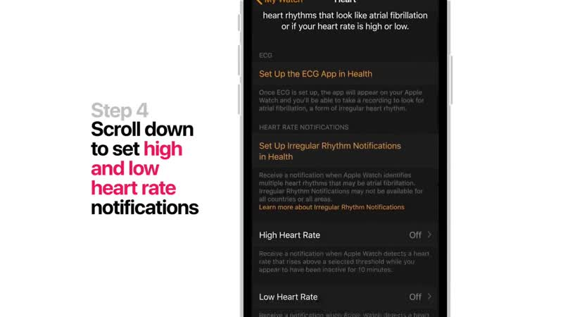 Apple Watch Series 4 How to turn on heart health notifications