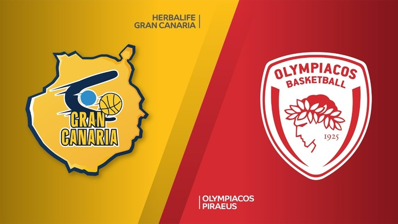 Herbalife Gran Canaria - Olympiacos Piraeus Highlights | Turkish Airlines EuroLeague RS Round 28