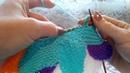Красивый коврик спицами Вяжем 8 9 10 11 12 13 клинья