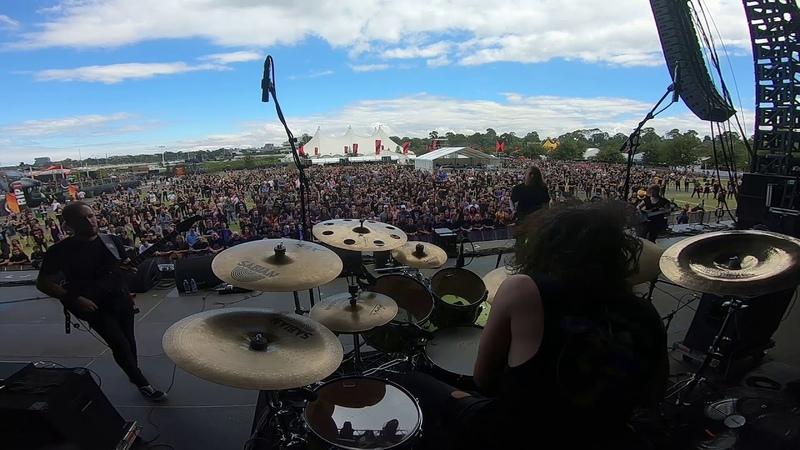 VOYAGER Hyperventilating drum intro live at Download Festival Australia Melbourne 11 03 2019