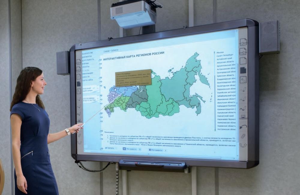 Интерактивные доски делают обучающий процесс современным и интересным