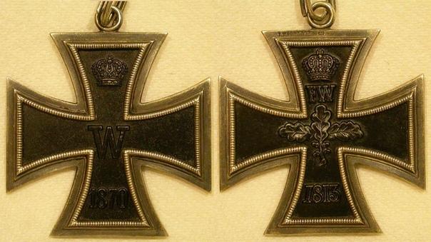 ЖЕЛЕЗНЫЙ КРЕСТ 1870-го года (Das eiserne reuz) Знак отличия - Железный крест был восстановлен прусским королём Вильгельмом I (1797-1888) в первый же день начавшейся в 1870 году Франко-прусской