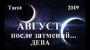 ДЕВА.  Август 2019.  ВЛИЯНИЕ ИЮЛЬСКИХ ЗАТМЕНИЙ. Tarot.