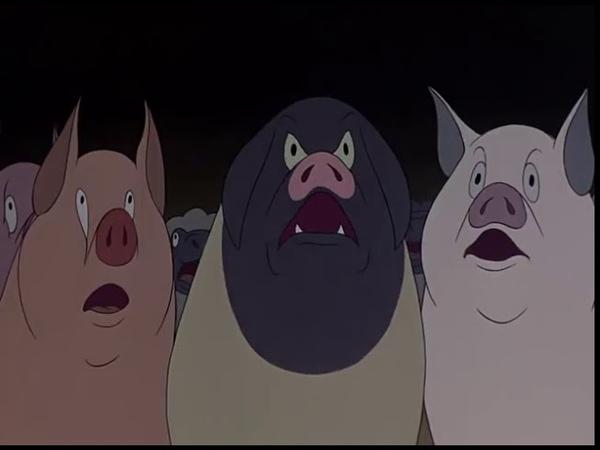 Мультфильм Звероферма Скотный двор 1954 год