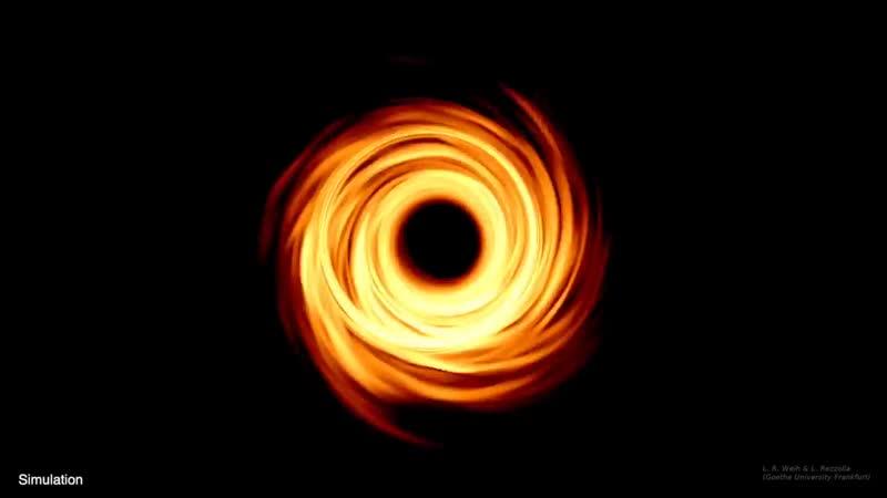 Первые изображения чёрных дыр