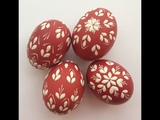 Easter Egg (kraslice, pisanky) European tradition -wax decorating tutorial
