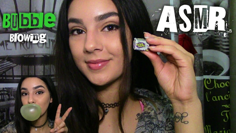 ASMR|| Gum Chewing Bubble Blowing|| Whispered