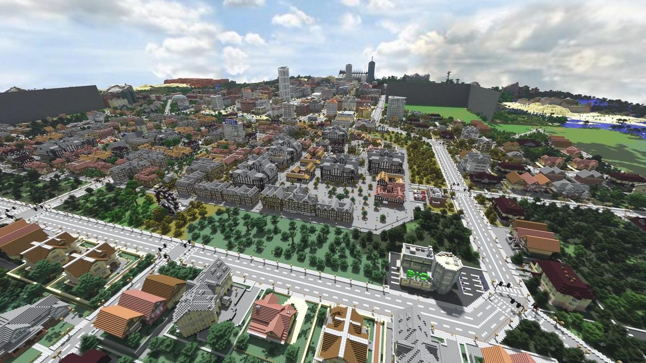 Город в Minecraft