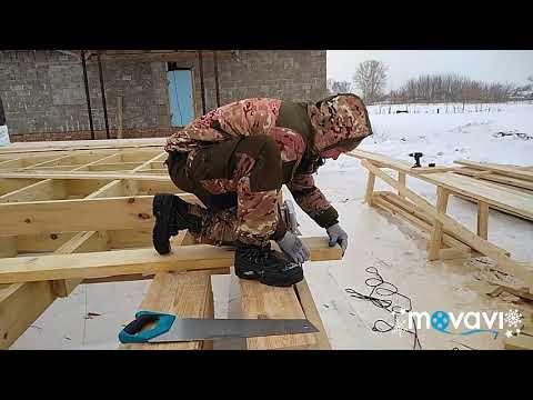 Каркасный дом в республике Татарстан. 2й день на объекте. Монтаж стен.