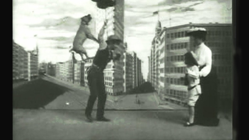 Buster Brown and Tige como destruir a un vendedor de globos de Thomas Alva Edison