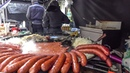 Huge Fried Sausages from Poland Kielbasa . London Street Food