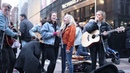 DCT Buskers all come together for an impromptu jam on Grafton Street Ho Hey/Riptide