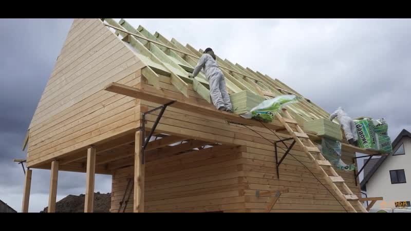 Строительство дома-бани из бруса - Изба Мастер