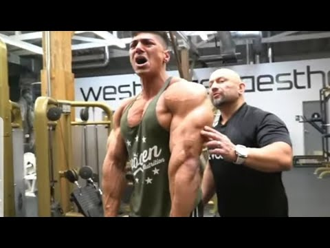 Andrei Deiu Blasts FST-7 exercises biceps and triceps with Hany Rambod 🔥