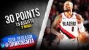 Damian Lillard Full Highlights 2019.03.18 Blazers vs Pacers - 30 Pts, 15 Asts! | FreeDawkins