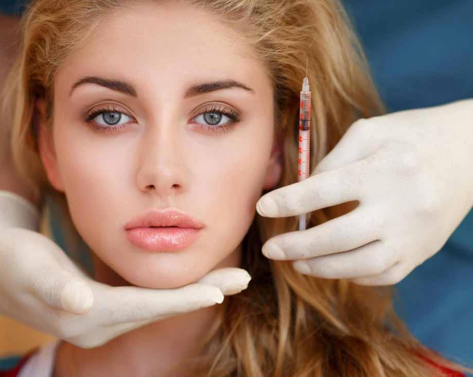 Гиалуроновая кислота может быть введена в губы для достижения более пухлого вида.