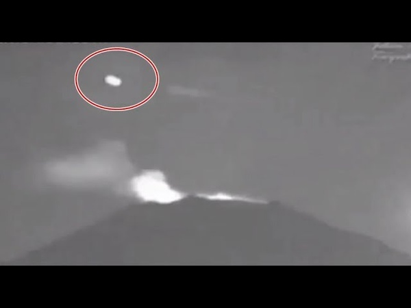 Mysterious Object Flies Over Popocatepetl Volcano