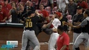 Amir Garrett, Puig David Bell take on the Pirates in a benches clearing brawl, a breakdown