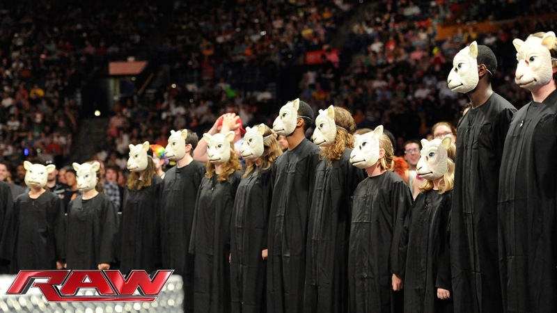 Bray Wyatt and a children's choir serenade John Cena Raw April 28 2014