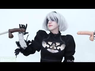 [manyvids] lana rain - 2b uses her body to rescue (nier:automata)