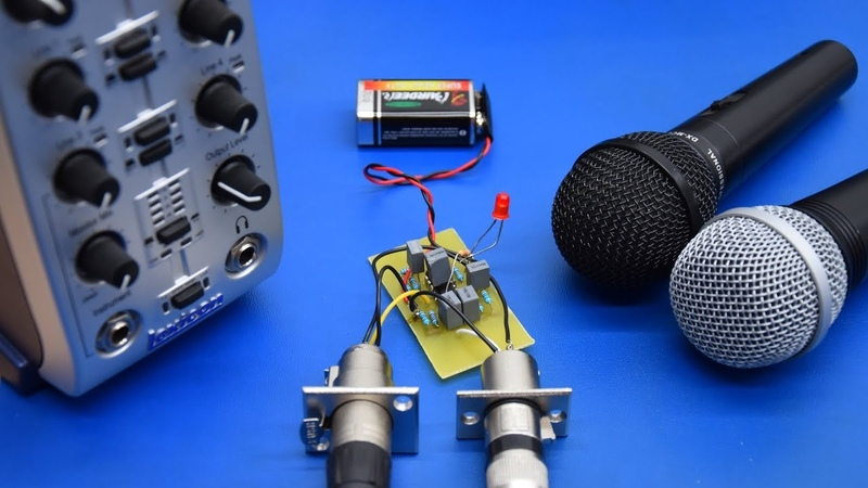 DIY Cheap Preamp for Dynamic Microphones - Ec-Projects