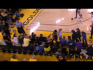 Fan gets ejected for shoving kyle lowry in game 3 of nba finals