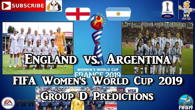 England vs. Argentina | FIFA Women's World Cup 2019 | Group D Predictions FIFA 19