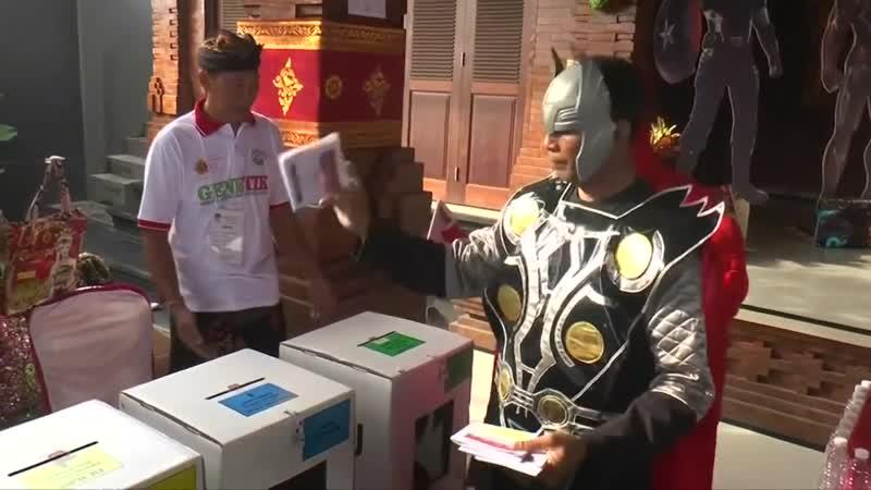 «Голос героев»: Человек-паук и Тор «помогли» провести выборы в Индонезии