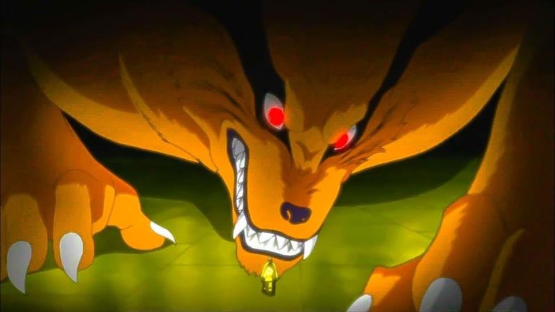 Успокойся, Курама! / Наруто пугает Шина своей силой