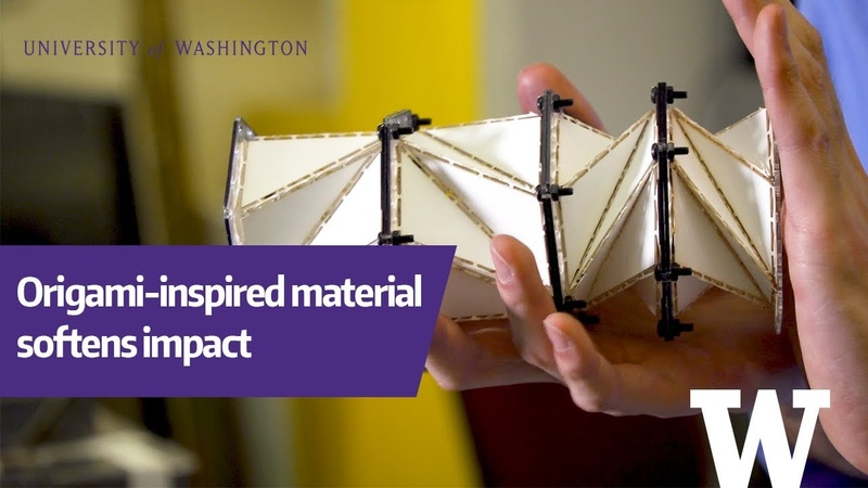 Origami-inspired material designed to soften impact