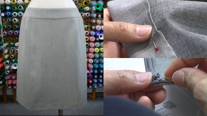 Part6 「裾手まつり、糸ループ、スプリングホック、仕上げアイロン」 How to se