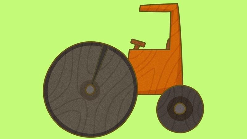 O rolo compressor. Carros de brinquedo. Desenhos animados para crianças.