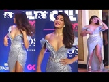 Jacqueline Fernandez In Deep V Neck Glittering Dress at GQ Style and Culture Awards