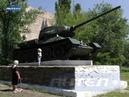 В Антраците свое почетное место на постаменте занял легендарный советский танк Т 34