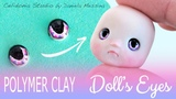 Polymer Clay Doll Eyes Tutorial - Manga Style 3