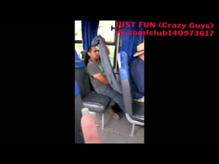 Public wanker in bus chile caught член хуй дроч cock penis wank jerk spy