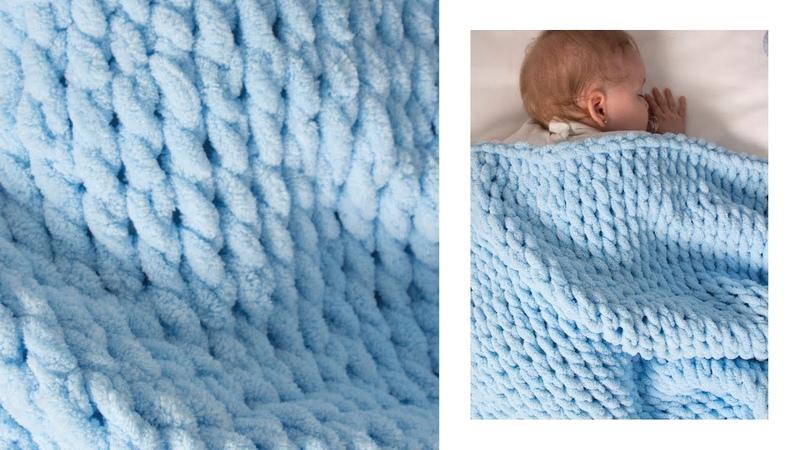 Şiş Yok - Tığ Yok Burgu Örgü Tekniği - No Needles - No Hooks Cable Knitting Technique battaniye