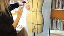 Моделирование юбки - карандаш Методом Наколки на манекене. Часть 2