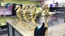 Amazing Chest of Drawers made of Aluminum Gold and Epoxy Комод из Алюминия Золота и Эпоксидки