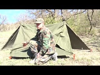Shelter. pup tent