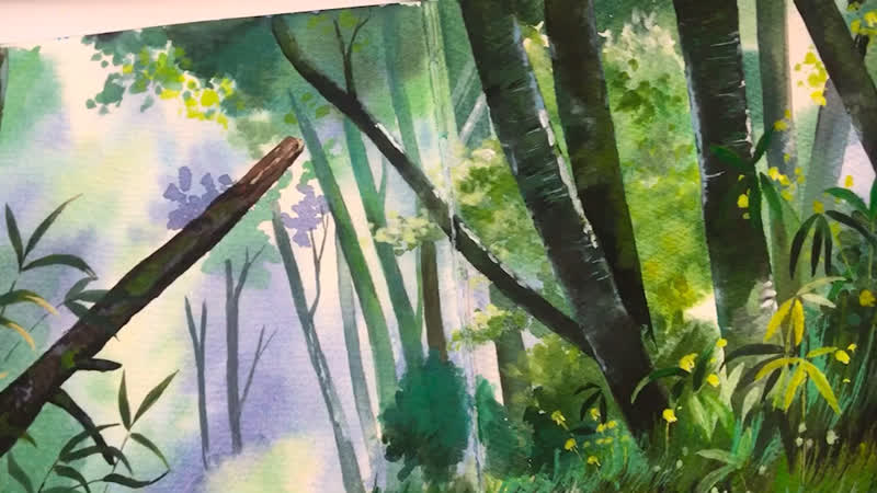 Study based on Oga Kazuo artwork. Forest