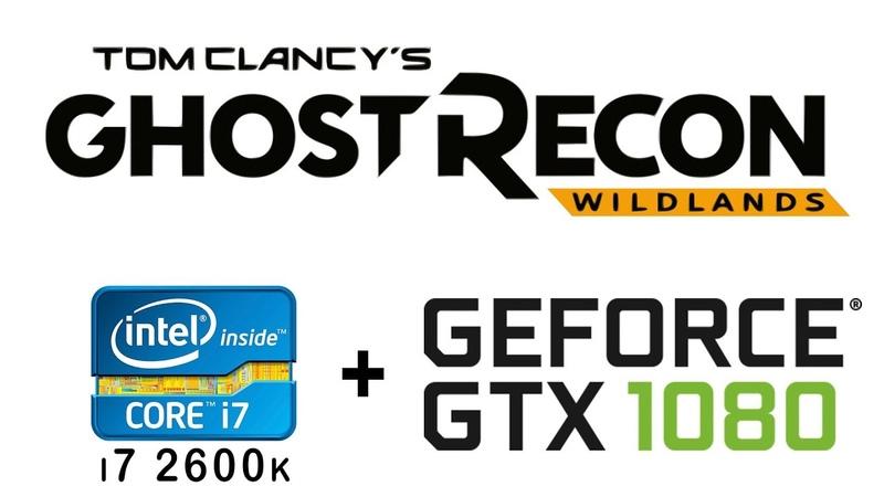 I7 2600k gtx 1080 in Tom Clancy's Ghost Recon Wildlands benchmark