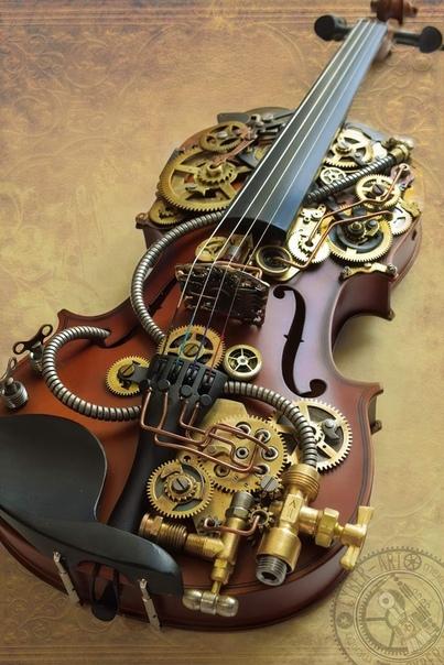 Стимпанк скрипка от Киберкрафт