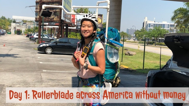 The Bladress Day 1- (no money skate across country) When things detach and re-attach