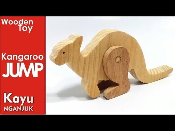 Membuat Mainan Kayu KANGURU LONCAT