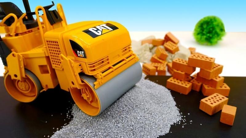 Die Helfer Autos - Auf der Baustelle - Kindervideo mit Spielzeugautos