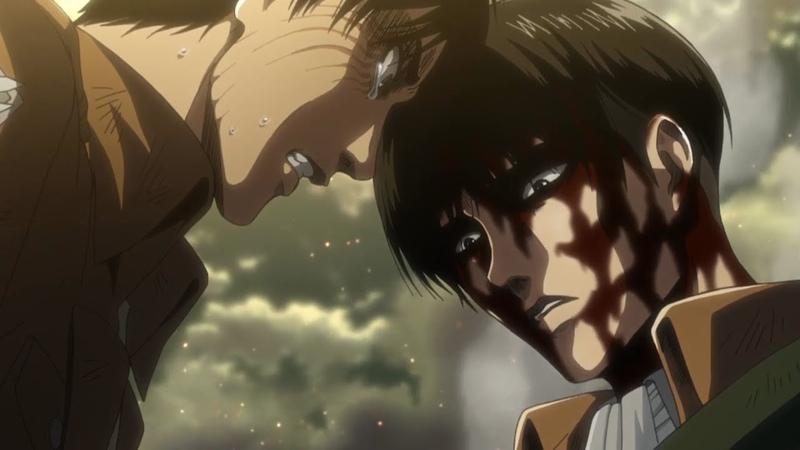 Attack on Titan Season 3 Final Episode 12 Ending Scene - Eren, Mikasa Levi