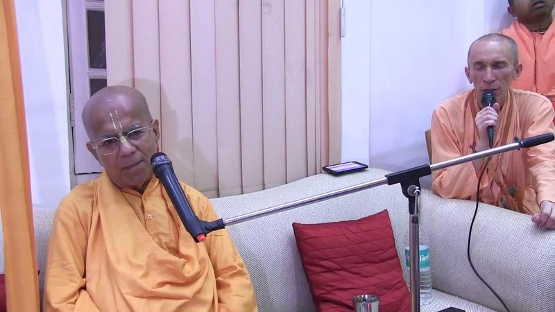 H.H. Gopal Krishna Goswami, Vrindavan, Darshan, 14.03.2018